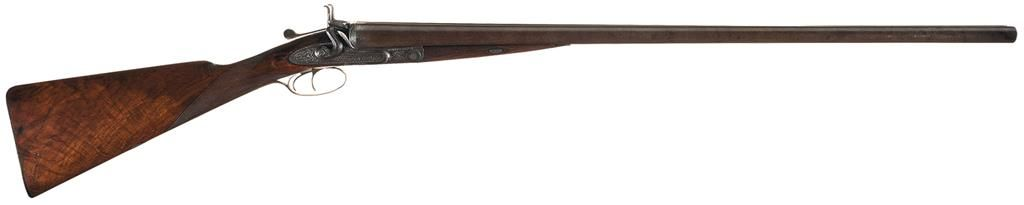 Engraved W&C Scott Best Grade 10 Gauge Double Barrel Hammer Shotgun