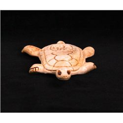 Stan Hill Carved Swimming Turtle. A fine carving from