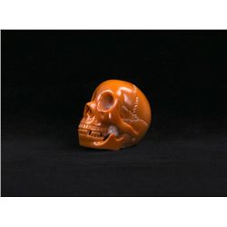 Intricately carved vegetable ivory nut skull(Size: See