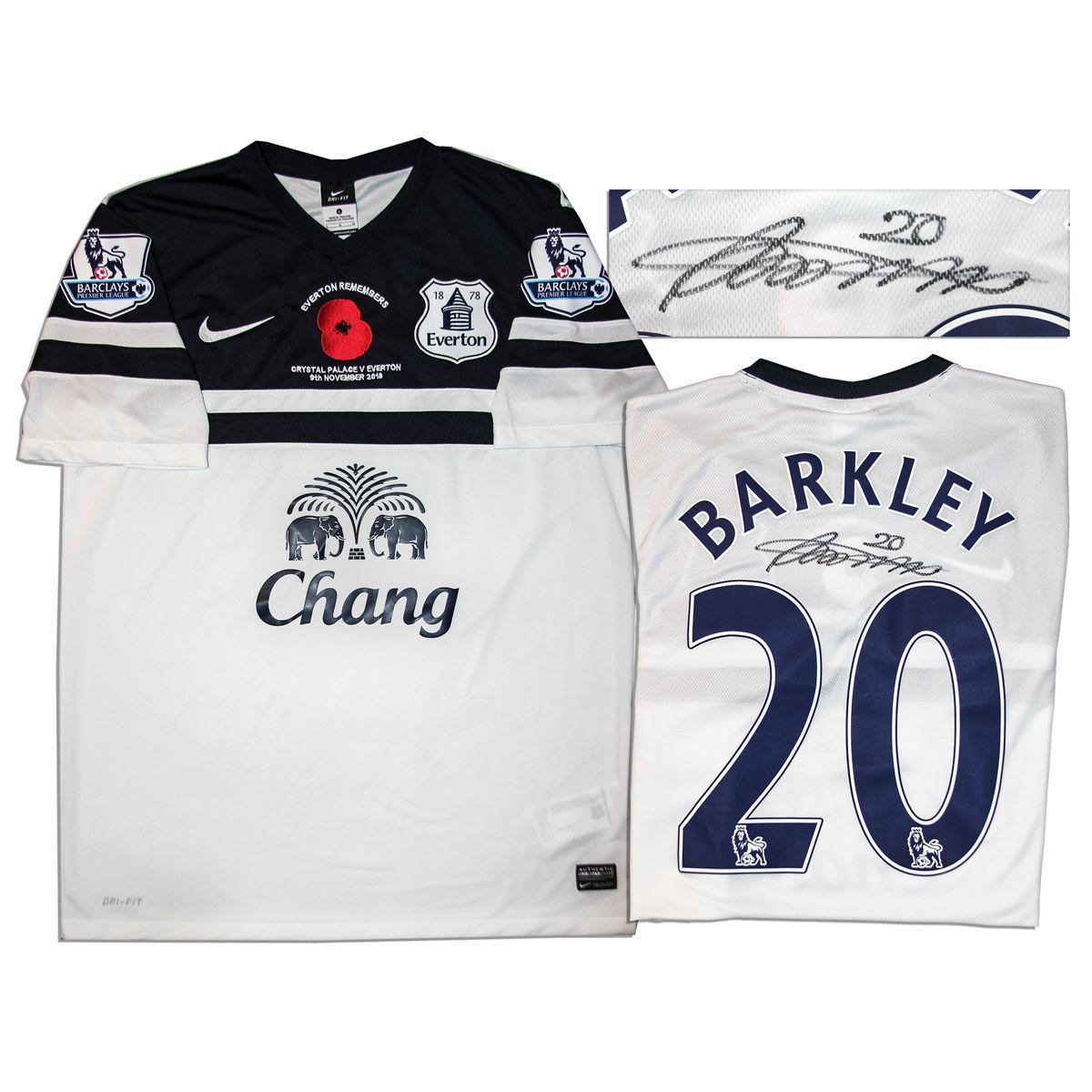 finest selection f632d 05189 Ross Barkley Match Worn Everton Football Shirt Signed