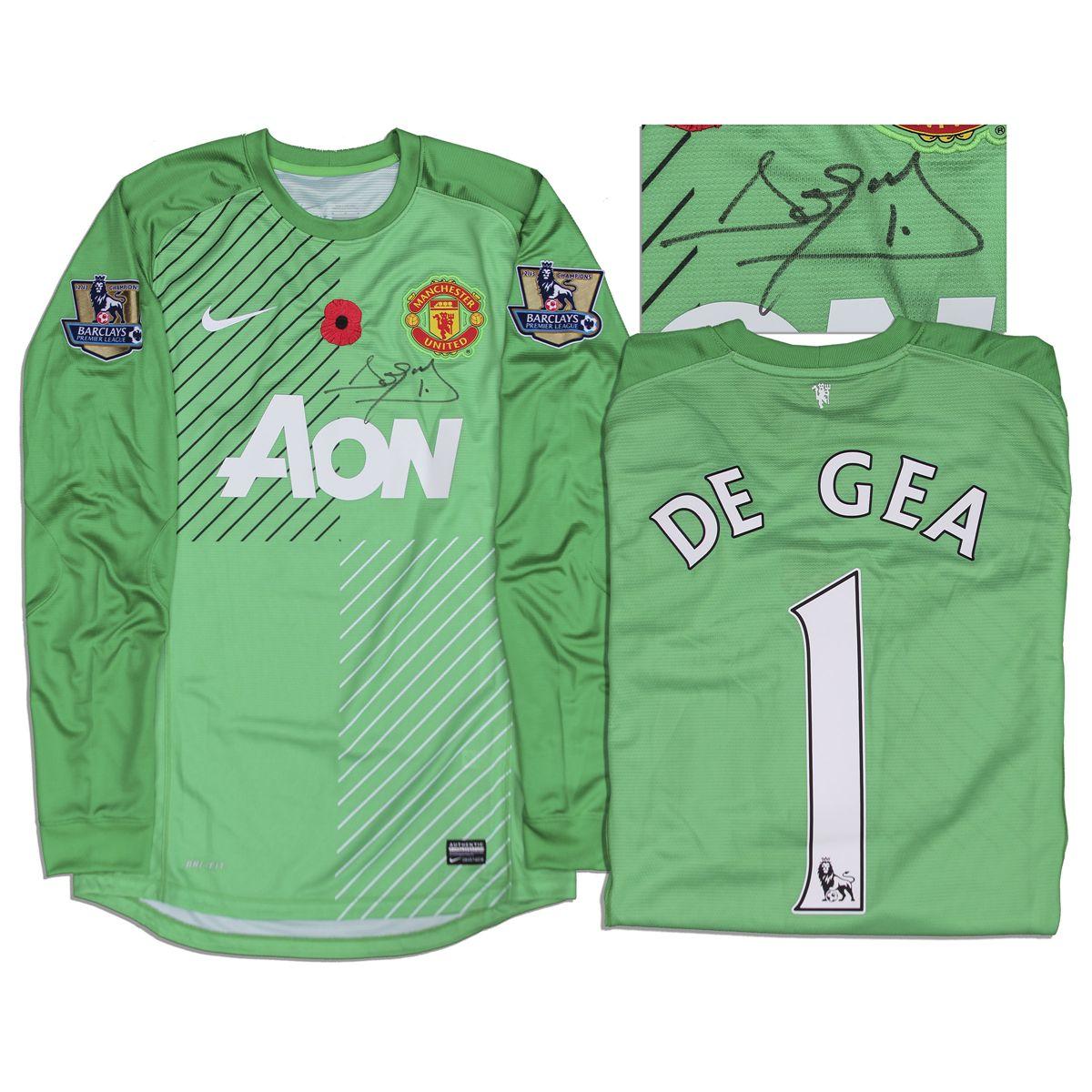 brand new 7c2a2 27f0b David DeGea Match Worn Manchester United Shirt Signed