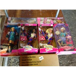 Lot of 6 Barbie's in boxes