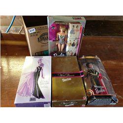 lot of 4 Barbie's