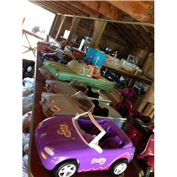 lot of Barbie cars and collectibles 15pc