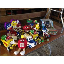 box lot of m&m collectibles