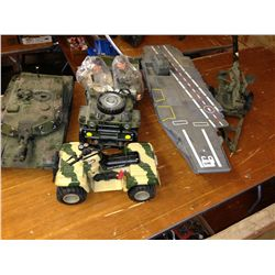 lot of military toys