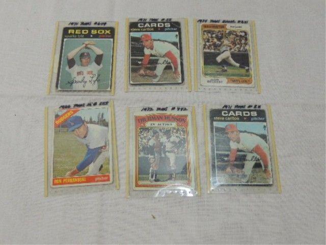 Lot 6 Topps Baseball Cards See List Below