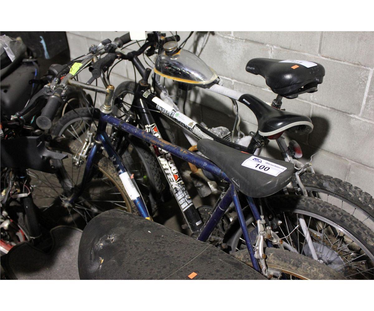 2 Bikes Blue Raleigh Mountain Bike Black Sportek Ridgerunner Mountain Bike Old vol season ticket holder and tennessee oilers founders club, now living endless summer in florida. live auction world