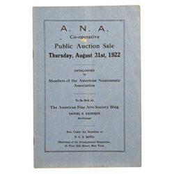THE 1922 ANA CONVENTION SALE