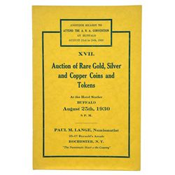THE 1930 ANA CONVENTION SALE