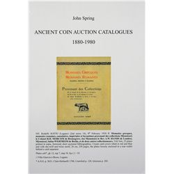 BIBLIOGRAPHY OF AUCTION CATALOGUES