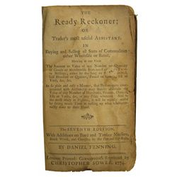 A 1774 GERMANTOWN, PENNSYLVANIA READY RECKONER