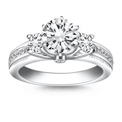 14K White Gold Multi Diamond Engagement Ring