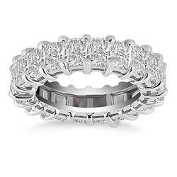 Exquisite 14K White Gold Emerald Cut Diamond Eternity Ring
