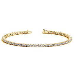 14K Yellow Gold Round Diamond Tennis Bracelet (2 ct. tw.)