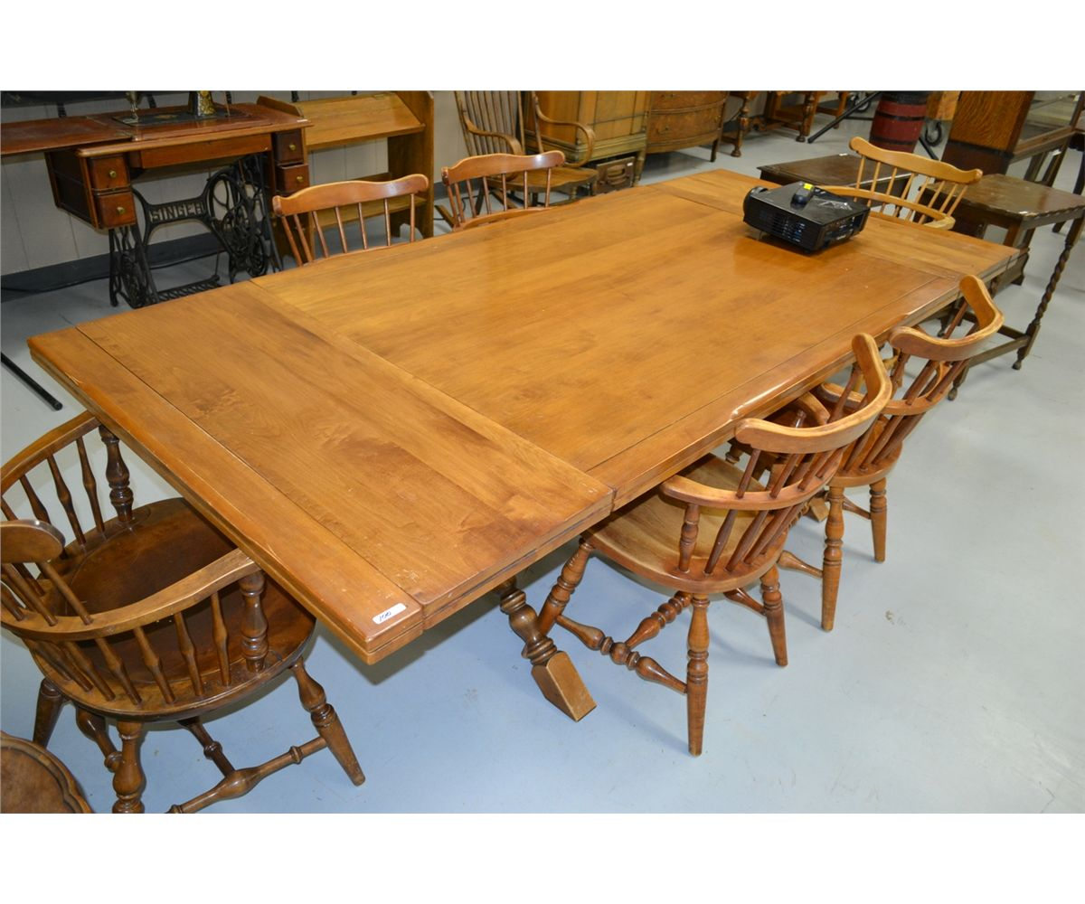 Marvelous Solid Maple Dining Table With 6 Chairs Ibusinesslaw Wood Chair Design Ideas Ibusinesslaworg
