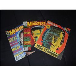 FAMOUS MONSTERS LOT OF 3 MAGAZINES