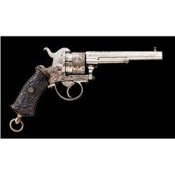 Mid-19th Century Belgian Pinfire DA Revolver