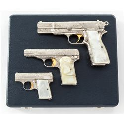 Renaissance Eng'd Bel. Browning 3-Gun Set