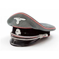 WWII German SS Panzer Officer' Cap