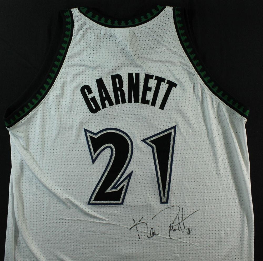 san francisco e1f6e 4f89d Kevin Garnett Signed Timberwolves Jersey (JSA COA)