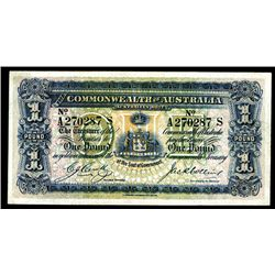 Commonwealth of Australia, ND (1918) Banknote Issue.