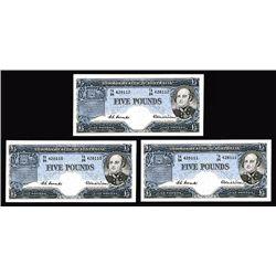 Commonwealth of Australia, ND (1954-59) Consecutive High Grade Banknote Trio .