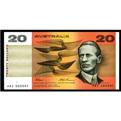 Commonwealth of Australia, Reserve Bank, ND (1984) Serial Number  1  Note.