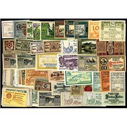 Austrian Notgeld ca. 1920 Assortment of 600 Mostly different notes.