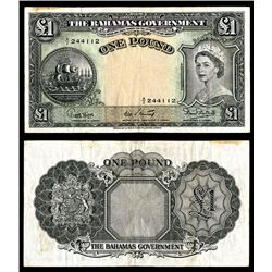 Bahamas Government, ND (1953) Issue Banknote