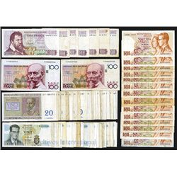 Modern Belgium 1956-1981 Banknote Assortment.