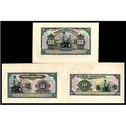 Banco De La Nacion De Bolivia, 1911 Proof Banknote Trio.