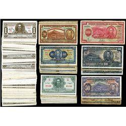 Bolivian Banknotes: Lot of 100+ Banknotes, ca.1928-1951