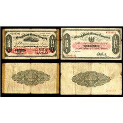 British North Borneo Company, 1936-40 Issue Banknote Pair
