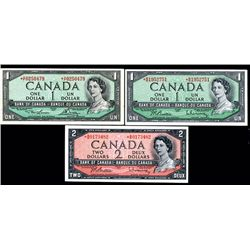 Bank of Canada Replacement Note Trio.