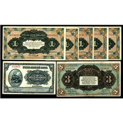 "Russo-Asiatic Bank, 1917 ""Harbin"" Issue Banknote Assortment."