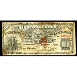 Banco Nacional De La Republica De Colombia, 1900 Issue.