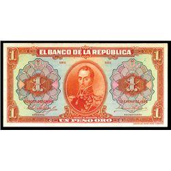 Banco De La Republica, 1926 Uniface Proof Banknote.