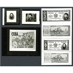 Banco Nacional De Cuba, 1960 Essay Banknote Production Material.