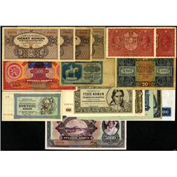 Republic of Czechoslovakia & Czechoslovak National or State Bank Issue  Assortment.