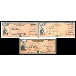 U.S. Savings Bond ca.1980-90's Lot of 7 Different Varieties.
