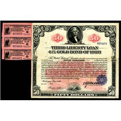 U.S. Liberty Loan, Third Liberty Loan, $50, 1918, 4 1/2% Gold Bond of 1928.