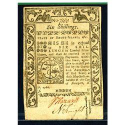 Rhode Island, 6 Sh. May 1786