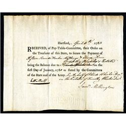 State of Connecticut Pay Voucher dated Hartford, CT.