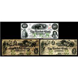 Egg Harbor Bank, 1860-61 Obsolete Banknote Trio.