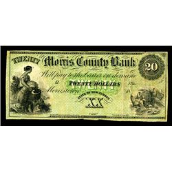 Morris County Bank, 18xx, ca.1850-60's, Obsolete Banknote.