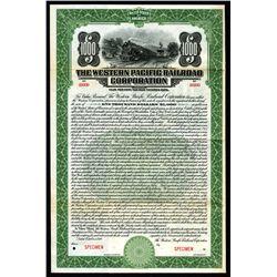 Western Pacific Railroad Corp., 1920 Specimen 4% Coupon Bond.