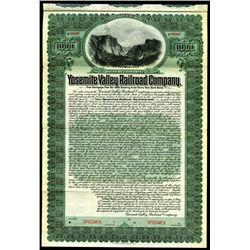 Yosemite Valley Railroad Co. 1906, Historic Specimen 1st Mortgage 5% Gold bond.