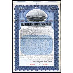 Northern Maine Seaport Railroad Co., 1905 Specimen 5% Gold Bond.