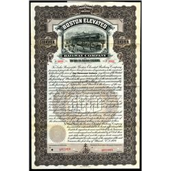 Boston Elevated Railway Co., 1924 Specimen 6% Gold Coupon Bond.